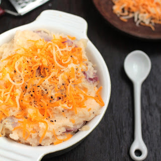 Cheddar Greek Yogurt Mashed Potatoes