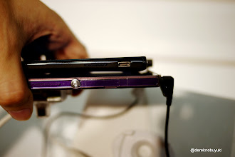 Photo: Xperia Z / Xperia Tablet Z Event: side view comparison of the Xperia GX (top) with the Xperia Z (bottom)
