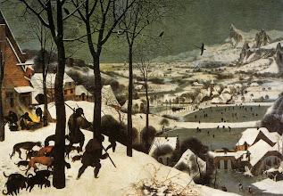 """Photo: Pieter Bruegel il Vecchio, """"Cacciatori nella neve"""" (1565)"""
