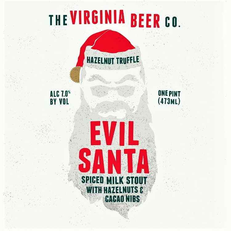 Logo of Virginia Beer Co. Hazelnut Truffle Evil Santa