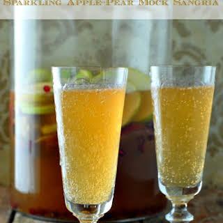 Sparkling Apple-Pear Mock Sangria.