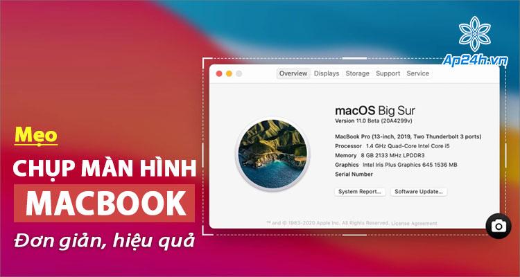 Hướng dẫn chụp màn hình MacBook toàn bộ và 1 phần