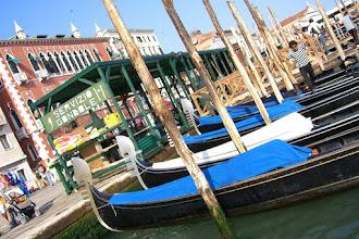 Photo: Gondolas near St. Mark's Square