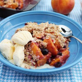 Fresh Peach-Blueberry Crisp