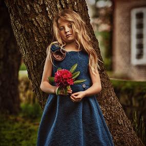 The fairy tale by Jan Kraft - Babies & Children Child Portraits ( vintage girl fashion dress hair flower colour )