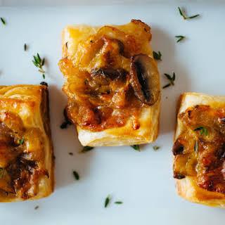 Caramelized Onion and Mushroom Tart.
