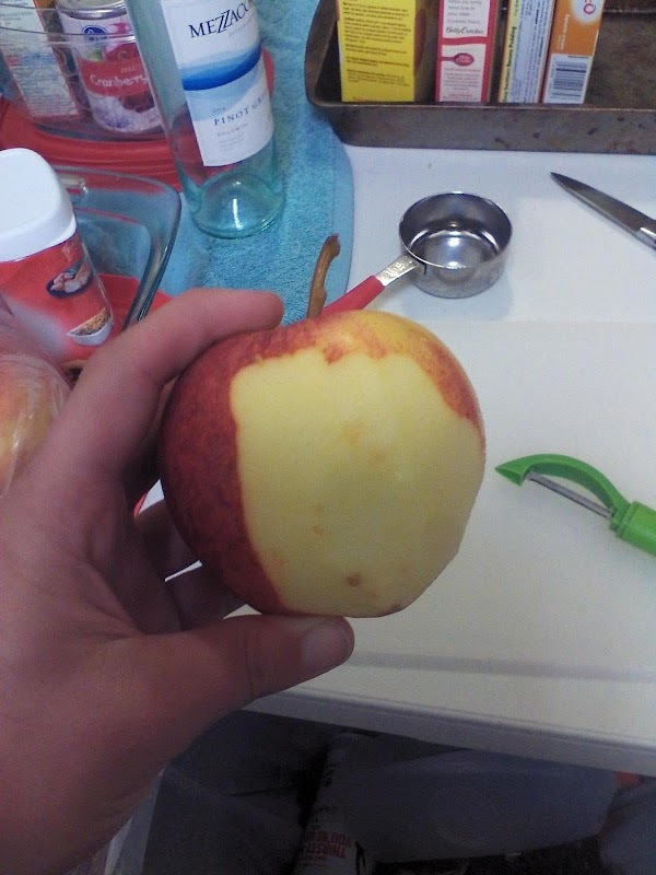 Skin apples