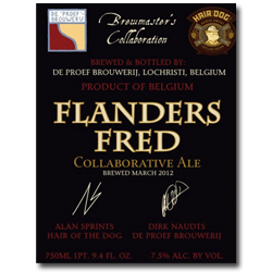 Logo of De Proefbrouwerij/Hair Of Dog Flanders Fred