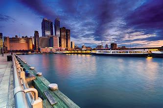 Photo: Sunset in the city - New York, NY