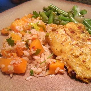 Butternut Squash Parsley Rice