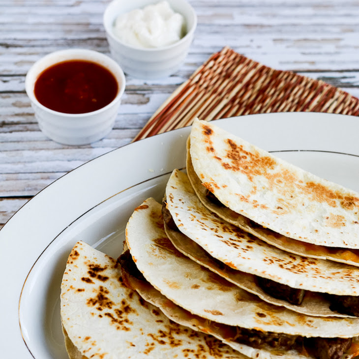 Low-Carb Sausage and Cheese Breakfast Quesadillas Recipe