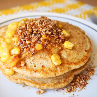 Corn Pancakes with Apam Balik Toppings (Gluten-Free, Dairy-Free).