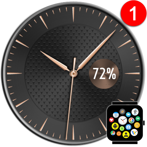 Free Elegant Watch Face Theme for Bubble Clouds