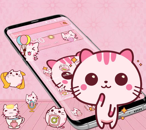 Download Cute Pink Kitty Theme Kawaii Sweet icon on PC & Mac