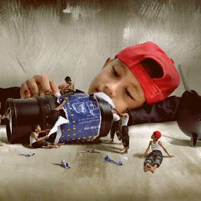 Cleaning Lens by Ahay Gart - Digital Art Things