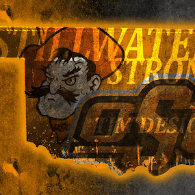 #StillwaterStrong by TJ Morrison - Typography Words ( badass, orange, stillwater, desing, oklahoma )