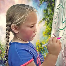 My Beautiful Niece by Paul Gibson - Digital Art People ( girl child, model, girl, digital art, art, portrait, drawing,  )