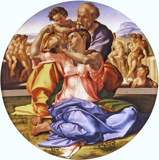 Article on Michelangelo's Doni Tondo Analysis of Michelangelo's Holy Family #kellybagdanov # homeschool #homeschooling #classicalconversation #charlottemason #classicalconversationresource #classicalconversationcycle1 #charlottemasonpicturestudy #arteducation #arthistory #teachingarthistory #michelangelo #donotondo #holyfamily