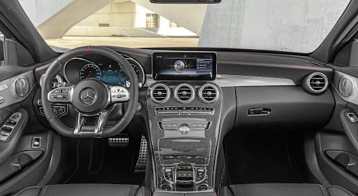 The interior still gets a few AMG touches