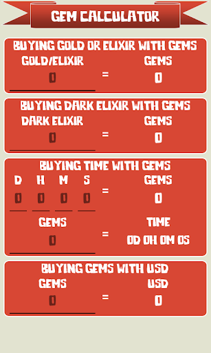 ? Gem Calculator for Clash of Clans 1.2.7 screenshots 1