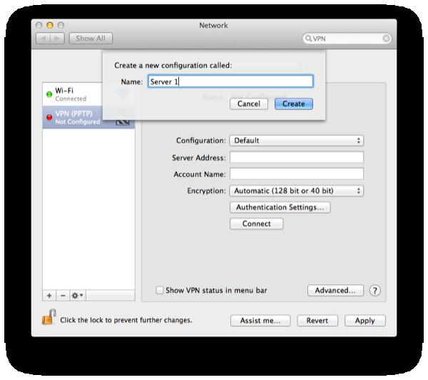 Thiết Lập VPN Trên Máy Mac