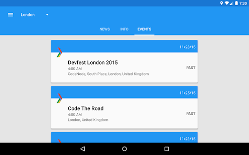 GDG - News & Events- screenshot thumbnail