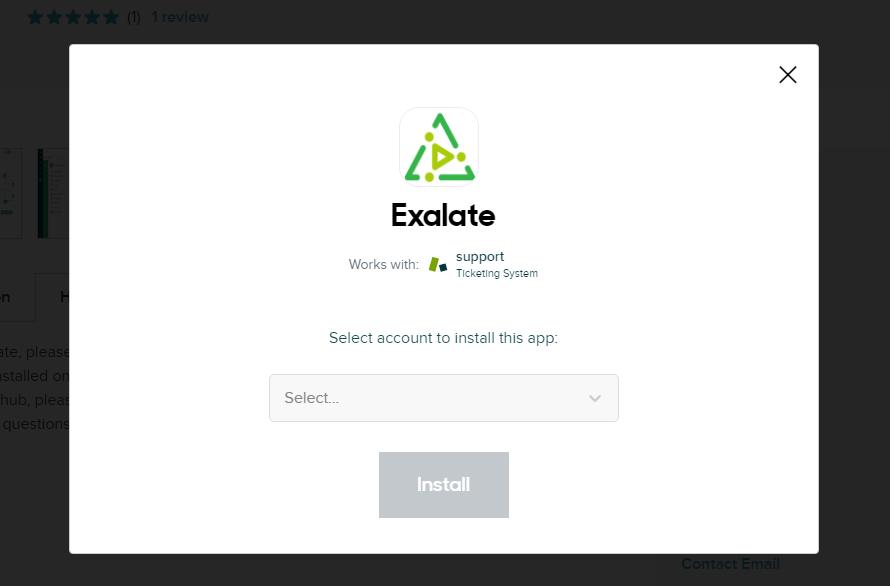 install exalate for zendesk