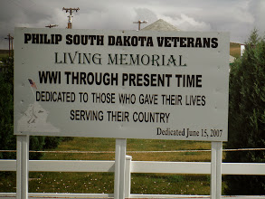Photo: Day 27 Wall SD to Murdo SD 88 miles 2290' climbing : Philip SD memorial