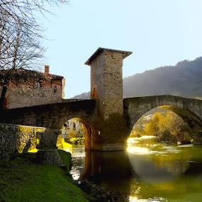 by Peter Kostov - Buildings & Architecture Bridges & Suspended Structures ( bridge river puente rio history valmaceda spain nikon sigma architecture )