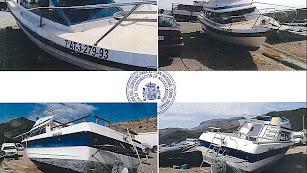 Fotos de la embarcación subastada.
