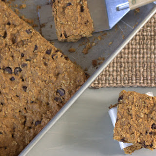 Pumpkin Oatmeal Bars with Chocolate Chips.