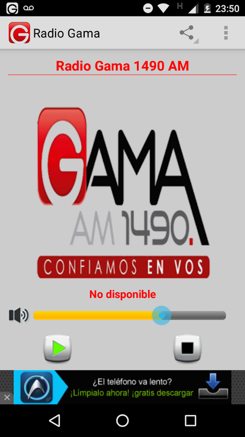 Radio Gama- screenshot