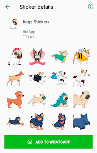 Best Dog Stickers for WhatsApp WAStickerApps Screenshot