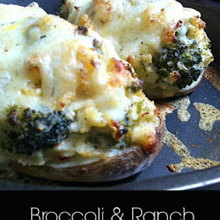 Broccoli & Ranch Twice Baked Potatoes