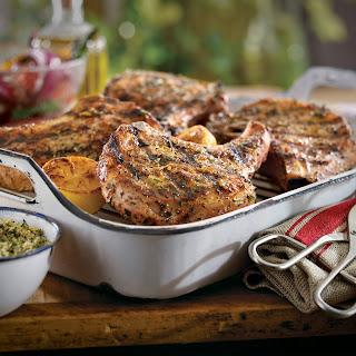 Lemon-Tarragon Pork Chops.