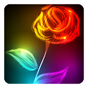 Neon Flower Live Wallpaper icon