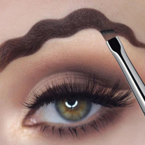Squiggly Eyebrows Makeup