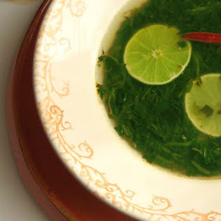 Mexican Lime Soup (with Spinach).