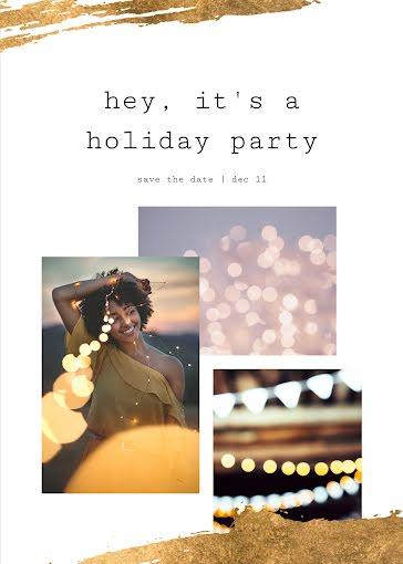 Hey It's a Holiday Party - Christmas Card template