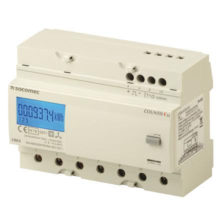 kWh mätare, digital, MID,7 mod, 3 fas, 100A, pulsutg. 2T