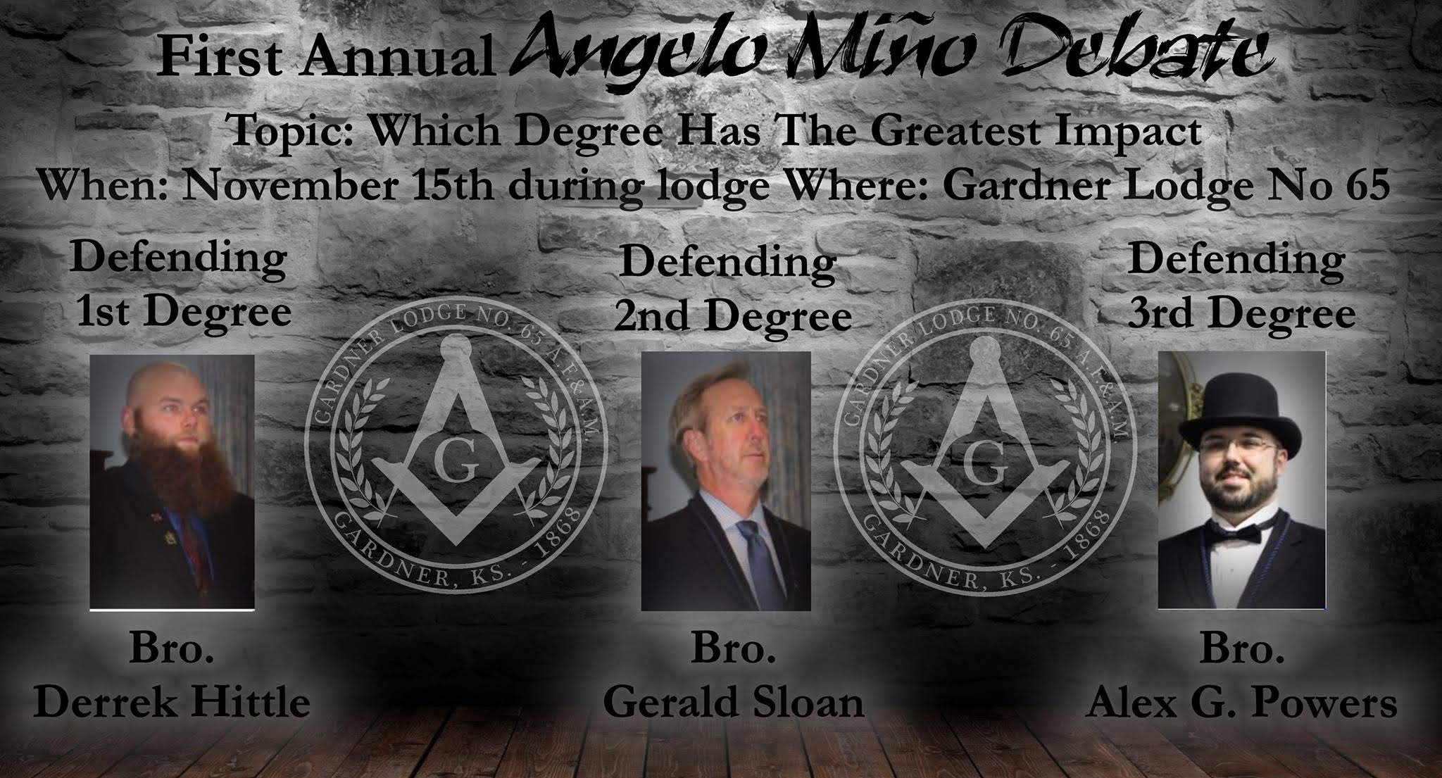 First Annual Lodge Debate