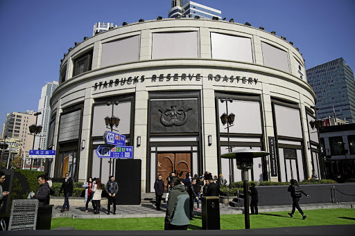 A view of the new Starbucks Reserve Roastery in Shanghai, the group's first roastery in China. Picture: REUTERS