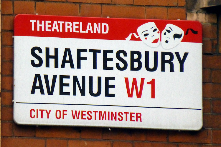 Shaftesbury Avenue Road Sign