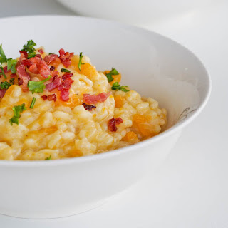 Butternut Squash Risotto with Bacon