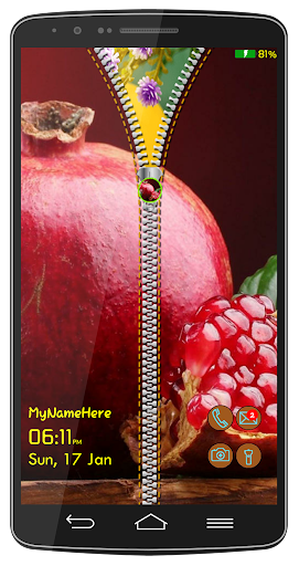 Fruity Photo Lock Screen