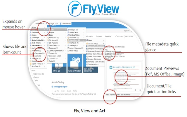 FlyView for SharePoint and Office 365 Sites