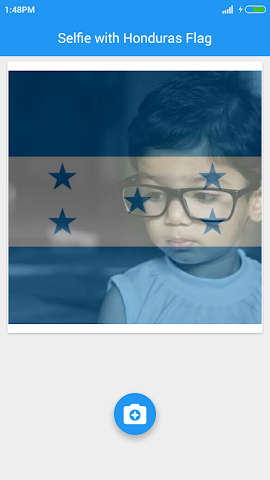 android Selfie with Honduras flag Screenshot 4