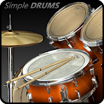 Simple Drums Rock - Realistic Drum Set Icon