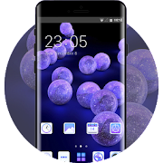 Theme for emotion life gradient purple wallpaper icon