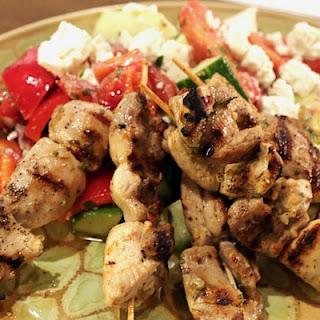 Chicken Kabobs with Greek Village Salad Recipe